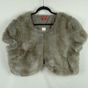 ELLE Shrug Jacket Plus Size 2X Faux Fur Lady Luxe